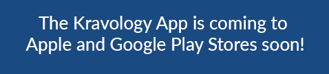 The Kravology App is coming to the Apple App Store and Android Google Play Store soon.